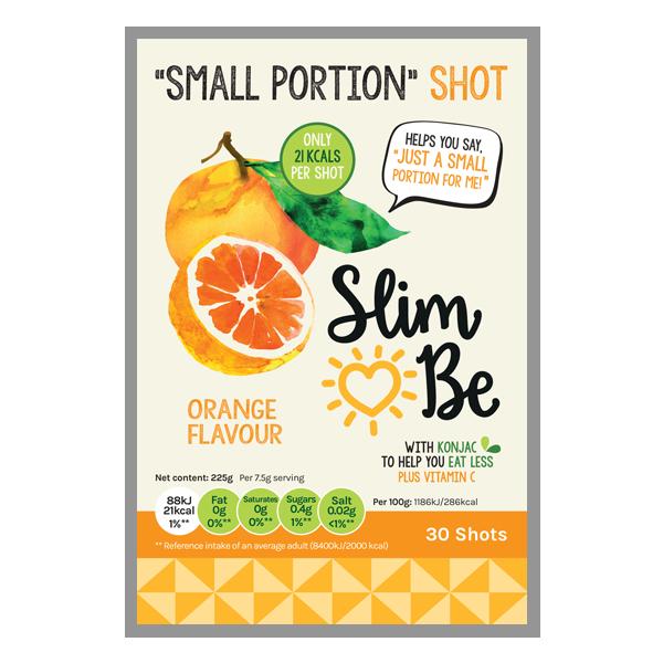 orange flavour small portion shots