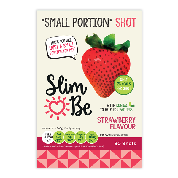 strawberry flavour small portion shots